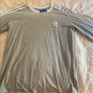 Adidas originals three stripe long sleeve Tshirt